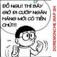 (Doremon che) cuop ngan hàng